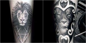 puntillismo tatuaje